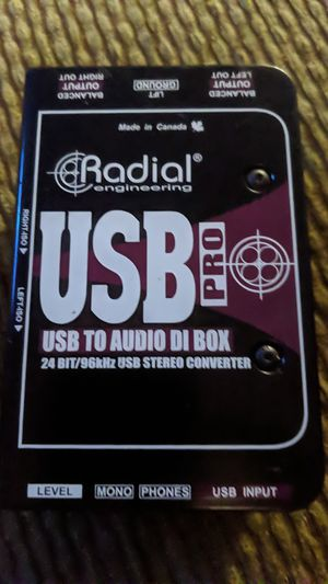 Radial usb pro (usb to audio DI box) for Sale in Beaumont, CA