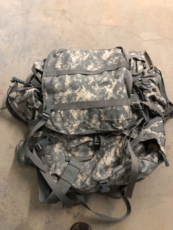 Large Army Backpack With Padded Frame