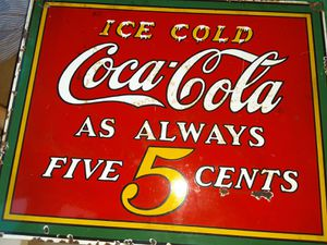 Porcelain cocacola sign for Sale in Rancho Dominguez, CA