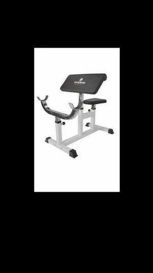 Titan Preacher Curl Station Seated Strength Training Bench Bicep Home Gym for Sale in Pompano Beach, FL
