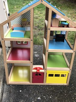 Wooden Dollhouse + Furniture for Sale in Kirkland,  WA
