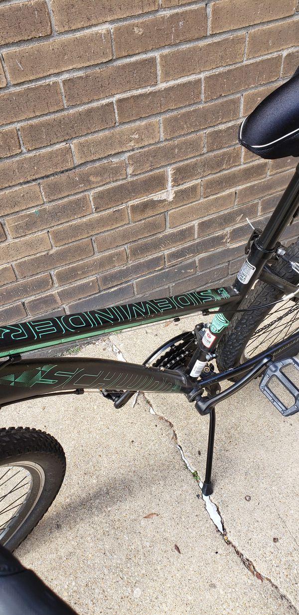 Schwinn Sidewinder Mountain Bike, 26-inch wheels, black and green