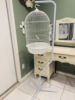 NEW white hanging bird cage NOT FREE! read description! for Sale in Riverside, CA