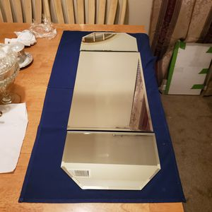 3 pc. Beveled Mirror Table Runner for Sale in Kent, OH