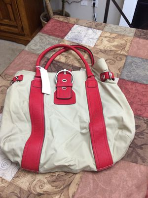 Sequoia Paris canvas and red leather tote bag new for Sale in Hanover, MD