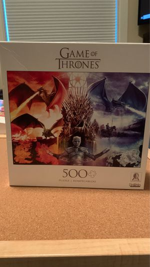 Game of thrones 500 piece puzzle for Sale in Tulalip, WA