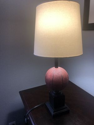 Basketball lamp with lamp shade for Sale in San Antonio, TX