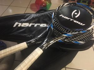 """Set of 2 harrow axis racquets with 2 carrying case weight 300 g bal 340 mm head 100 in length 27"""" for Sale in Miami, FL"""