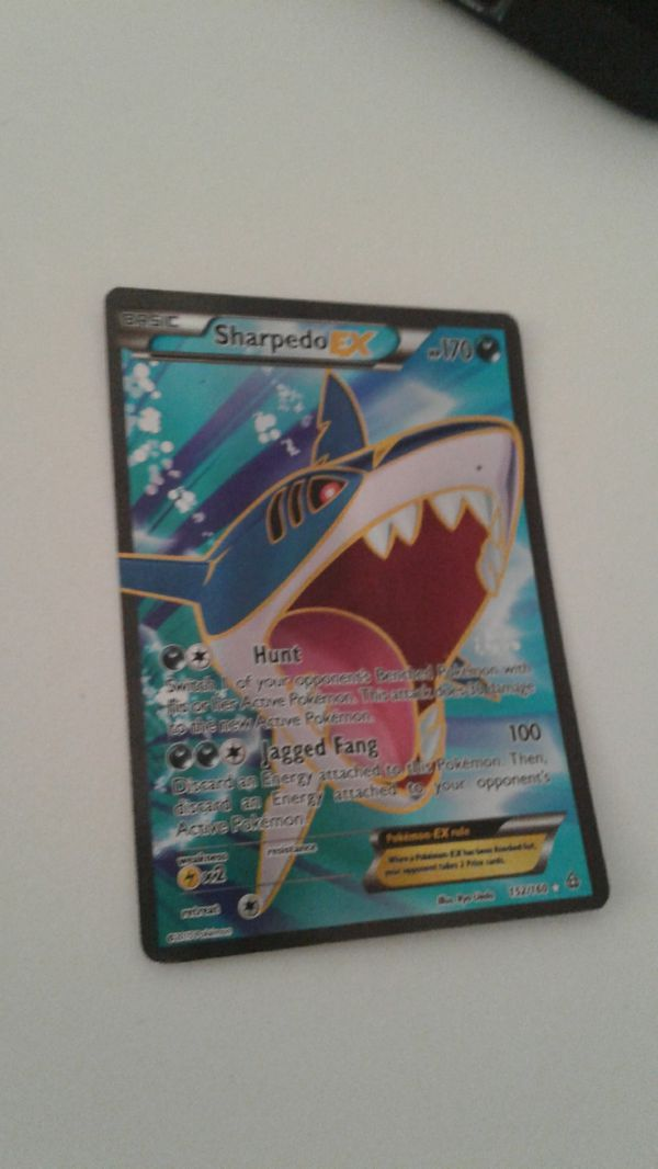 Sharpedo EX Pokemon card.