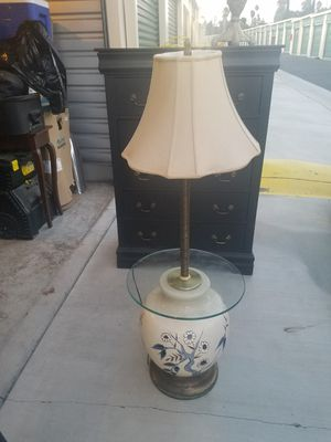 Vintage glass table top lamp for Sale in Riverside, CA