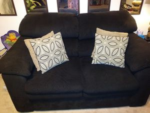 Living room furniture choclate brown A Steal and dinette all for $400 or best offer for Sale in Rockville, MD