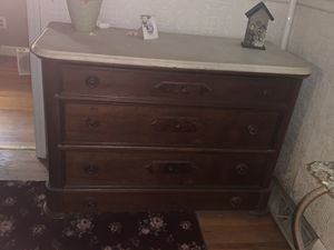 Antique marble top dresser for Sale in Lyman, SC