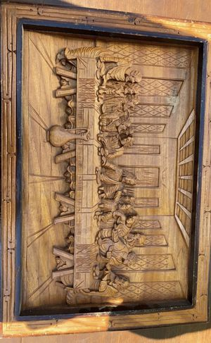 Carved wooden Last Supper picture for Sale in Salinas, CA