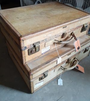 1920s Antique Hartmann Skymate His/ Hers Suitcases for Sale in Modesto, CA