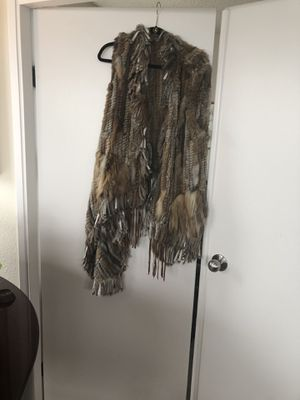 Rabbit fur vest for Sale in Seattle, WA