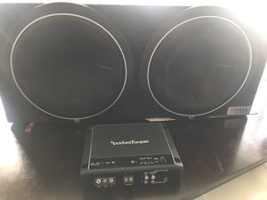 Rock ford fosgate sub and amp for Sale in Denver, CO