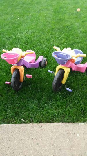 2 Girls big wheel bikes for $15. for Sale in Denver, CO