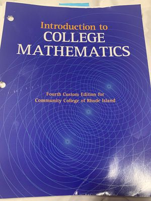 Introduction to college mathematics for Sale in Providence, RI
