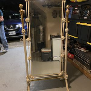 Antique Mirror Metal White And Brass for Sale in Houston, TX