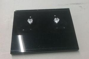 Brand New Fashion CZ Diamond Heart Stud Earrings. for Sale in Central Falls, RI