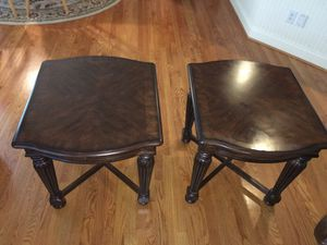 Two Brown Antique Side Tables for Sale in Apex, NC
