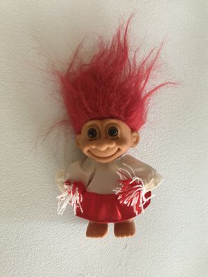 """CHEERLEADER - 5"""" Russ Troll Doll - Red and White Uniform for Sale in Appleton, WI"""