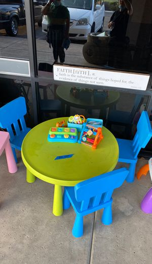 Kids table and chairs. Baby stuff and more. for Sale in Chandler, AZ