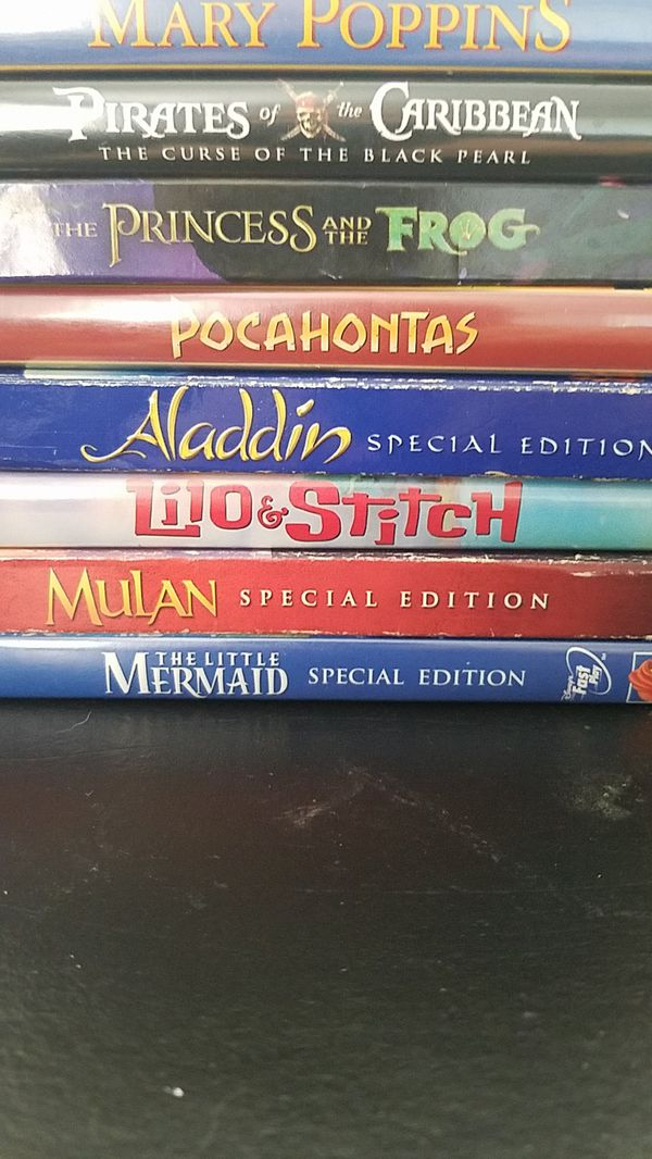 Disney DVD movie collection $3 each, 5 for $10