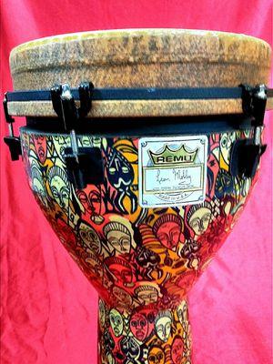 remo leon mobley djembe !! $200 or best offer !! for Sale in Oakland Park, FL