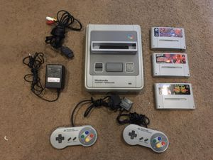 Super Nintendo SNES famicom japan import with games and 2 controllers, converter all OEM for Sale in Philadelphia, PA