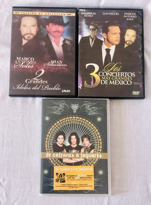 Lot of 3 Latino Music 🎼 DVDs📀 for Sale in El Cajon, CA