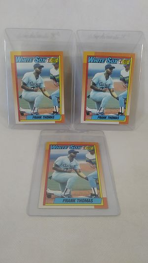 3 Frank Thomas Rookie Cards 1990 Topps Baseball Hall Of Fame for Sale in Orangevale, CA