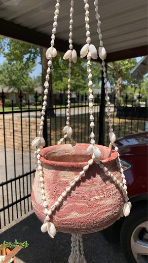 32 inch long shell macramé plant holder. Pot not included. for Sale in Fort Worth, TX