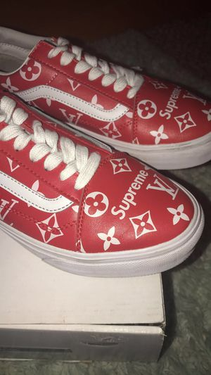 Customized Louis Vuitton Supreme old school vans for Sale in Tacoma, WA