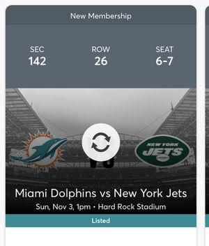 Dolphins vs Jets 4 tix for Sale in Homestead, FL