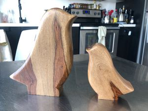 West Elm wooden decorative mama and baby bird for Sale in Portland, OR