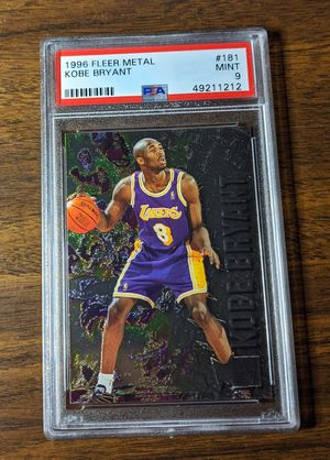 Kobe Bryant Rookie Card - 1996 Fleer Metal - PSA Graded 9 - Mint for Sale in West Sacramento, CA