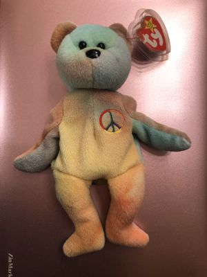 TY beanie babies Peace Bear. With 2 errors RARE with tags 1996 for Sale in Gresham, OR