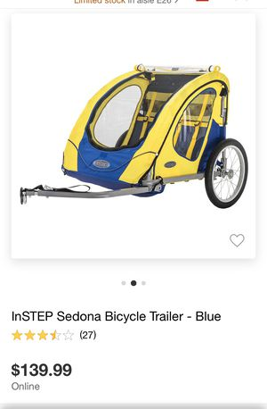 Bike trailer for toddlers 2 seater for Sale in Los Angeles, CA