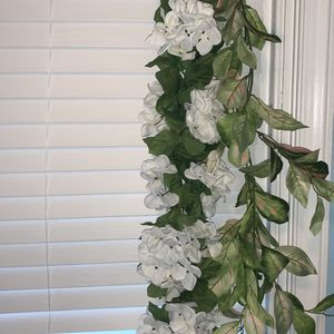 Ashland Garland 6 Ft Tall Flowers White Flower Decor Fake Flower Party Wedding Vine for Sale in Philadelphia, PA