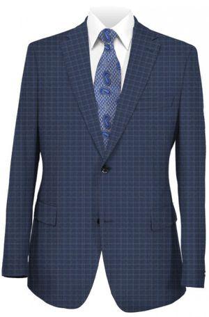 NEW Hugo Boss dieselstrasse 12 blue checker pattern suit genius3 38R for Sale in Miami, FL
