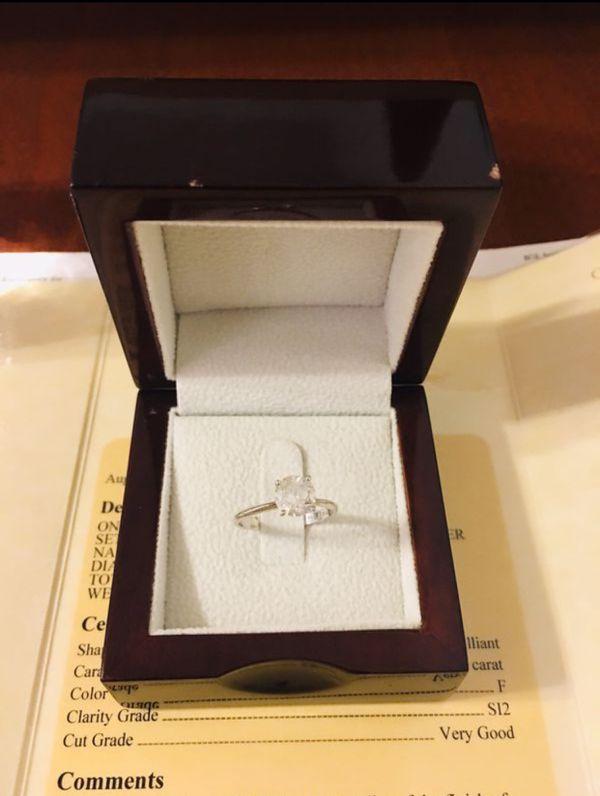 14 Karat White Gold, 1.29 carat F/SI2 Engagement/Wedding Ring, IGL Certified
