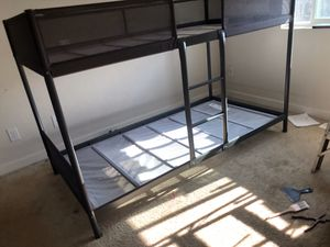 IKEA bunk bed, like new with new mattresses for Sale in Black Diamond, WA