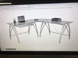 L-Shaped RealSpace Zentra Computer Desk for Sale in Vallejo, CA