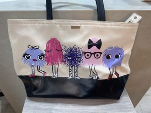 Kate spade monsters tote with zipper for Sale in San Diego, CA