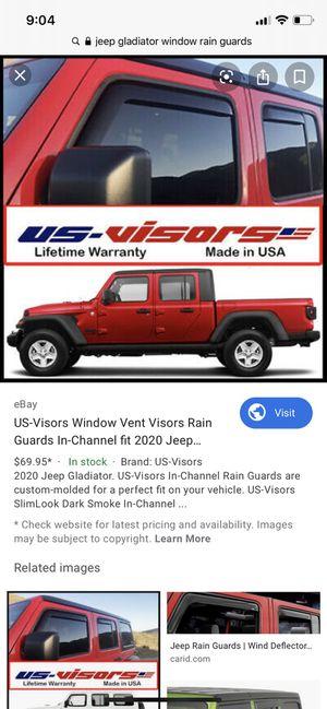 Jeep Gladiator window rain guards for Sale in Tampa, FL