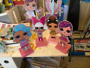 """4- 11"""" LOL Surprise Wooden Stands for Sale in Anaheim, CA"""