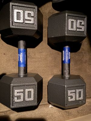 Weights - Brand new fitness gear - 50 lbs dumbell pair for Sale in Tampa, FL