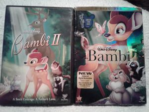 Disney`s BAMBI & BAMBI 2 DVD for Sale in Crosby, TX