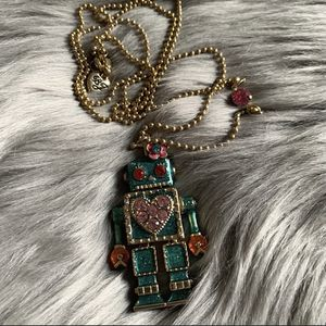 Betsy Johnson Green Legendary Robot Necklace for Sale in Tigard, OR